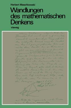 Wandlungen des mathematischen Denkens von Meschkowski,  Herbert