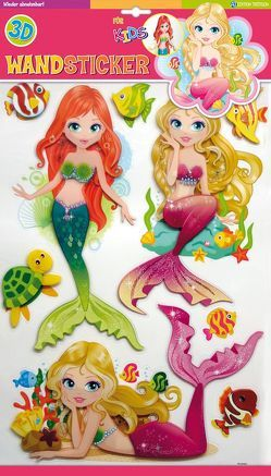 Wandsticker Meerjungfrauen