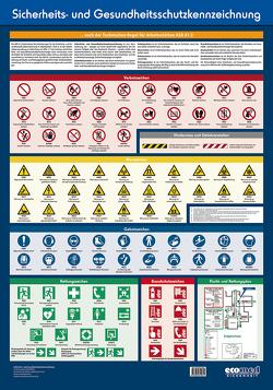 Wandtafel Sicherheits- und Gesundheitsschutzkennzeichnung