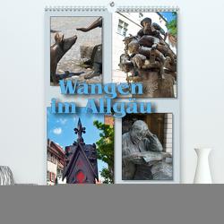 Wangen im Allgäu und seine schönen Brunnen (Premium, hochwertiger DIN A2 Wandkalender 2020, Kunstdruck in Hochglanz) von J. Richtsteig,  Walter