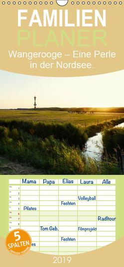 Wangerooge – Eine Perle in der Nordsee. – Familienplaner hoch (Wandkalender 2019 , 21 cm x 45 cm, hoch) von Mitchell,  Frank