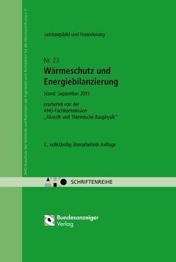 Wärmeschutz und Energiebilanzierung – Leistungsbild und Honorierung