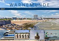 Warnemünde – Sehnsuchtsort an der Ostsee (Wandkalender 2021 DIN A2 quer) von Felix,  Holger