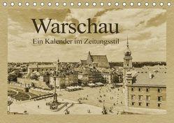 Warschau – Ein Kalender im Zeitungsstil (Tischkalender 2018 DIN A5 quer) von Kirsch,  Gunter