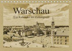 Warschau – Ein Kalender im Zeitungsstil (Tischkalender 2019 DIN A5 quer) von Kirsch,  Gunter