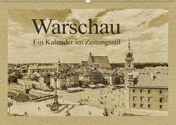Warschau – Ein Kalender im Zeitungsstil (Wandkalender 2018 DIN A2 quer) von Kirsch,  Gunter