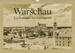 Warschau – Ein Kalender im Zeitungsstil (Wandkalender 2018 DIN A3 quer) von Kirsch,  Gunter