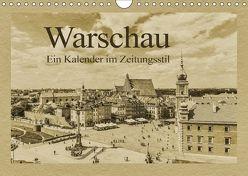 Warschau – Ein Kalender im Zeitungsstil (Wandkalender 2018 DIN A4 quer) von Kirsch,  Gunter
