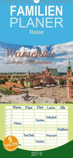 Warschau – Zeit für Entdeckungen – Familienplaner hoch (Wandkalender 2019 , 21 cm x 45 cm, hoch) von Kirsch,  Gunter