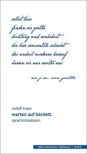 warten auf beckett von Rudolf,  Kraus