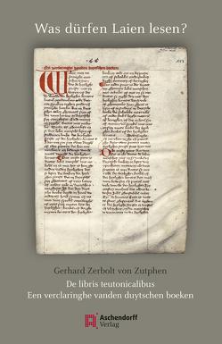 Was dürfen Laien lesen? von Staubach,  Nikolaus, Suntrup,  Rudolf