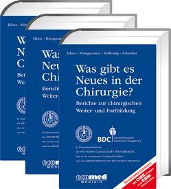 Was gibt es Neues in der Chirurgie? Jahresbände 2016, 2017, 2018 von Jähne,  Joachim, Königsrainer,  Alfred, Schroeder,  Wolfgang, Südkamp,  Norbert P.
