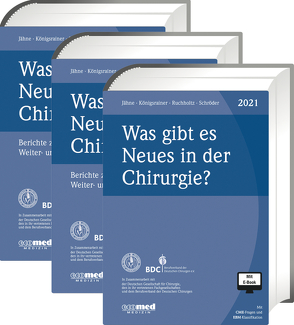 Was gibt es Neues in der Chirurgie? Jahresbände 2019, 2020, 2021 von Jähne,  Joachim, Königsrainer,  Alfred, Ruchholtz,  Steffen, Schroeder,  Wolfgang, Südkamp,  Norbert P.