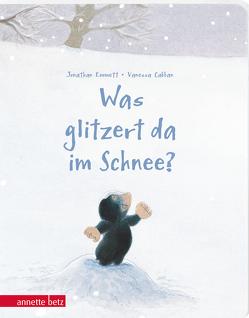 Was glitzert da im Schnee? – Ein buntes Pappbilderbuch über die Kunst, sich verzaubern zu lassen von Ahorner,  Peter, Cabban,  Vanessa, Emmett,  Jonathan