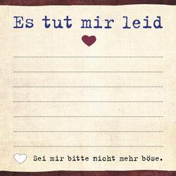 Was ich an dir liebe: Es tut mir leid – Klebezettel von Riva Verlag