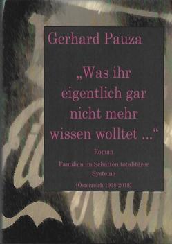 Was ihr eigentlich gar nicht mehr wissen wolltet von Pauza,  Gerhard
