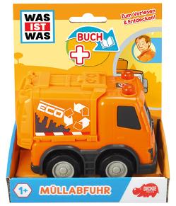 WAS IST WAS Dickie Toys Müllabfuhr. Set (Fahrzeug + Buch)