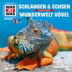 WAS IST WAS Hörspiel. Schlangen & Echsen / Wunderwelt Vögel von Baur,  Dr. Manfred, Carlsson,  Anna, Haßler,  Sebastian, Illi,  Günther, Krumbiegel,  Crock, Riedl,  Jakob, Semar,  Kristiane