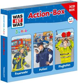 WAS IST WAS Junior Action-Box Feuerwehr/ Polizei/ Flughafen von Habersack,  Charlotte, Semar,  Kristiane, Wilhelmi,  Friederike
