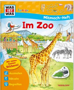 WAS IST WAS Junior Mitmach-Heft Zoo von Gubig,  Martha Luise, Lohr,  Stefan, Marti,  Tatjana, Reichert-Scarborough, Tessloff Verlag