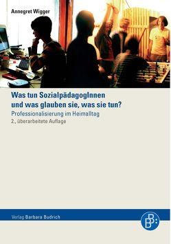 Was tun Sozialpädagoginnen und was glauben sie, was sie tun? von Wigger,  Annegret