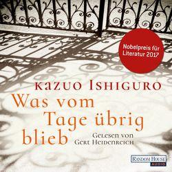Was vom Tage übrig blieb von Heidenreich,  Gert, Ishiguro,  Kazuo, Stiehl,  Hermann