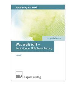 Was weiß ich? – Repetitorium Unfallversicherung von Behrendt,  Sabine, Bigge,  Gerd