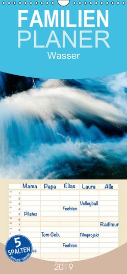 Wasser – Familienplaner hoch (Wandkalender 2019 , 21 cm x 45 cm, hoch) von aguja