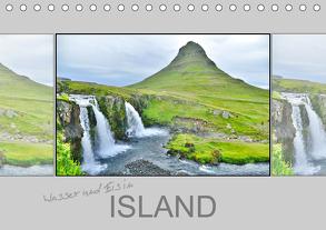 Wasser und Eis in Island (Tischkalender 2020 DIN A5 quer) von Travelina