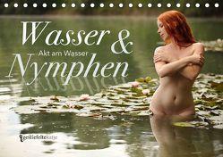 Wasser und Nymphen – Akt am Wasser (Tischkalender 2018 DIN A5 quer) von Gestiefeltekatze Lamanna,  Geraldine
