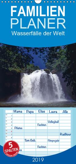 Wasserfälle der Welt 2019 – Familienplaner hoch (Wandkalender 2019 , 21 cm x 45 cm, hoch) von Schultes,  Michael