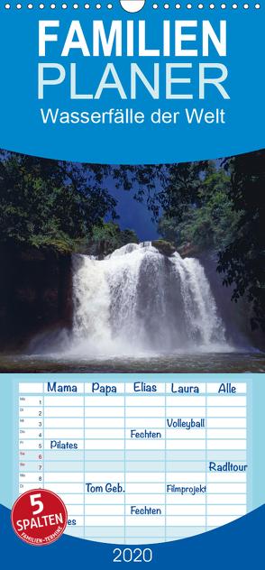 Wasserfälle der Welt 2020 – Familienplaner hoch (Wandkalender 2020 , 21 cm x 45 cm, hoch) von Schultes,  Michael