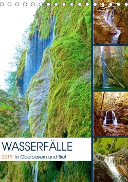 Wasserfälle in Oberbayern und Tirol (Tischkalender 2019 DIN A5 hoch) von Schimmack,  Michaela