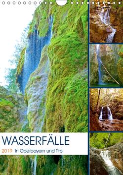 Wasserfälle in Oberbayern und Tirol (Wandkalender 2019 DIN A4 hoch) von Schimmack,  Michaela