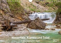 Wasserfälle, Klamme und Tobel in den bayerischen Alpen (Wandkalender 2021 DIN A4 quer) von Jank,  Robert