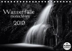 Wasserfälle – monochrom (Tischkalender 2019 DIN A5 quer) von und Holger Karius,  Kirsten