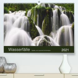 WASSERFÄLLE – Sanfte und tosende Schönheiten (Premium, hochwertiger DIN A2 Wandkalender 2021, Kunstdruck in Hochglanz) von Koch,  Lucyna