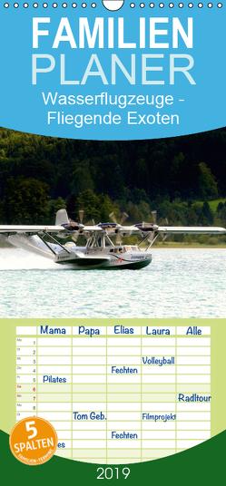 Wasserflugzeuge – Fliegende Exoten – Familienplaner hoch (Wandkalender 2019 , 21 cm x 45 cm, hoch) von R Bogner,  J