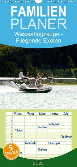 Wasserflugzeuge – Fliegende Exoten – Familienplaner hoch (Wandkalender 2020 , 21 cm x 45 cm, hoch) von R Bogner,  J