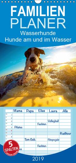 Wasserhunde: Hunde am und im Wasser – Familienplaner hoch (Wandkalender 2019 , 21 cm x 45 cm, hoch) von Lehmann (Hrsg.),  Steffani