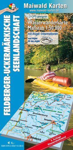 Wasserkarte Feldberg = Wasserwanderkarte Feldberger Seenlandschaft – Feldberger-Uckermärkische Seenlandschaft von Maiwald,  Detlef sen. u. Björn jr.