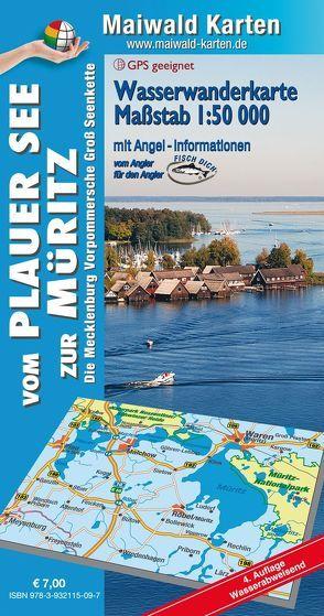 Wasserkarte Plauer See = Wasserwanderkarte vom Plauer See zur Müritz von Maiwald,  Detlef sen. u. Björn jr.