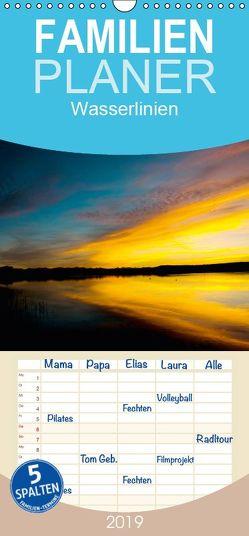 Wasserlinien – Familienplaner hoch (Wandkalender 2019 , 21 cm x 45 cm, hoch) von Thaler,  Oliver