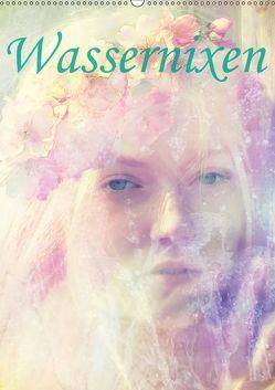 Wassernixen (Wandkalender 2018 DIN A2 hoch) von Brunner-Klaus,  Liselotte