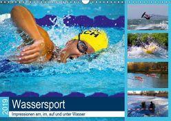 Wassersport 2019. Impressionen am, im, auf und unter Wasser (Wandkalender 2019 DIN A3 quer) von Lehmann (Hrsg.),  Steffani