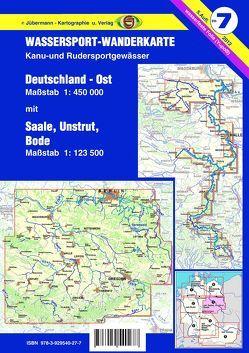 Wassersport-Wanderkarte / Deutschland Ost für Kanu- und Rudersport von Jübermann,  Erhard