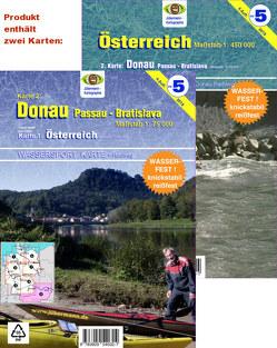Wassersport-Wanderkarte / Österreich von Jübermann,  Erhard