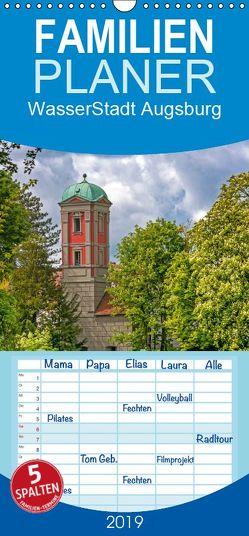 WasserStadt Augsburg – Familienplaner hoch (Wandkalender 2019 <strong>21 cm x 45 cm</strong> hoch) von Schleibinger www.js-reisefotografie.de,  Judith