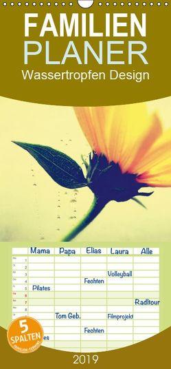 Wassertropfen Design – Familienplaner hoch (Wandkalender 2019 , 21 cm x 45 cm, hoch) von Riedel,  Tanja