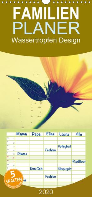 Wassertropfen Design – Familienplaner hoch (Wandkalender 2020 , 21 cm x 45 cm, hoch) von Riedel,  Tanja